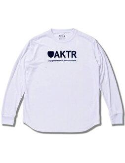 Basket long T-shirtware actor AKTR BASIC LOGO L/S TEE WH Wht