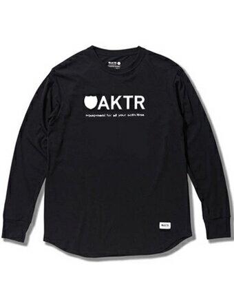 バスケットロング Tシャツ ウェア アクター AKTR BASIC LOGO L/S TEE Blk/Wht 【MEN'S】