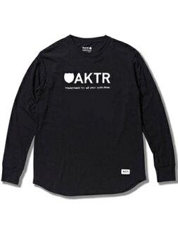 Basket long T-shirtware actor AKTR BASIC LOGO L/S TEE BK Blk