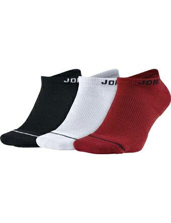 バスケットソックス ウェア ローソックス ジョーダン ナイキ Jordan Jordan Jumpman No-show 3-pack Socks Blk/Wht/G.Red ランニング トレーニング ストリート