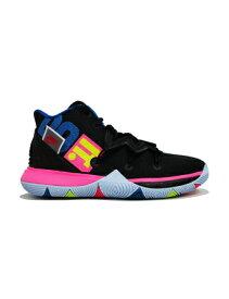 """バスケットシューズ ジュニア キッズ バッシュ ナイキ Nike Kyrie 5 GS """"Just Do It"""" GS Blk/H.Pink/Volt 【GS】キッズ"""