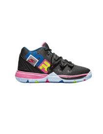 """バスケットシューズ ジュニア キッズ バッシュ ナイキ Nike Kyrie 5 PS """"Just Do It"""" PS Blk/Volt/H.Pink 【PS】"""