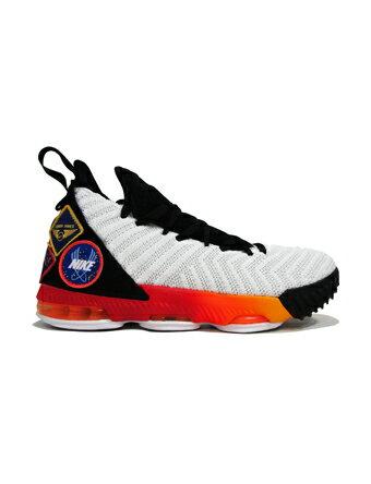 """バスケットシューズ ジュニア キッズ バッシュ ナイキ Nike Lebron 16 GS """"Strive"""" GS Wht/L.Org 【GS】キッズ"""