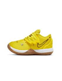 """バスケットシューズ ジュニア キッズ バッシュ スニーカー ナイキ Nike Kyrie 5 SBSP TD """"SpongeBob"""" TD O.Yel/Wht/Red ストリート 【TD】"""