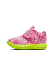 """バスケットシューズ ジュニア キッズ バッシュ スニーカー ナイキ Nike Kyrie 5 SBSP TD """"Patrick Star"""" TD L.Pink/U.Red ストリート 【TD】"""