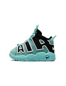 バスケットシューズ ジュニア キッズ バッシュ スニーカー ナイキ Nike Air More Uptempo PS TD Light Aqua/Blk/Wht ストリート 【TD】