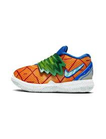 """バスケットシューズ ジュニア キッズ バッシュ ナイキ Nike Kyrie 5 SBSP TD """"Pineapple House"""" TD Org Peal/Teal Tint 【TD】"""
