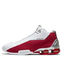 バスケットシューズ バッシュ スニーカー ナイキ Nike Shox BB4 Wht/M.Silver/V.Red ストリート