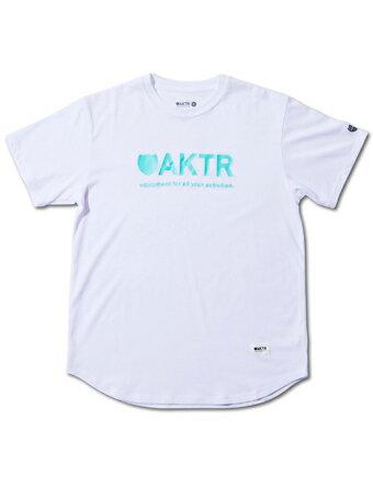 バスケットTシャツ ウェア アクター AKTR BASIC LOGO TEE Wht/Grn 【MEN'S】