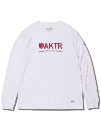 バスケットロング Tシャツ ウェア アクター AKTR BASIC LOGO L/S TEE WHITE Wht/Red 【MEN'S】