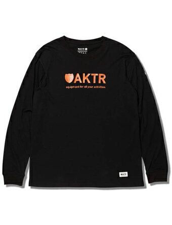 バスケットロング Tシャツ ウェア アクター AKTR BASIC LOGO L/S TEE BLACK Blk/Org 【MEN'S】
