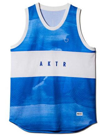 バスケットノースリーブ タンクトップ ウェア アクター AKTR RIPPLE FLOW TANK BLUE 【MEN'S】