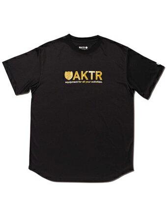 バスケットTシャツ ウェア アクター AKTR RIPPLE FLOW LOGO TEE BLACK 【MEN'S】