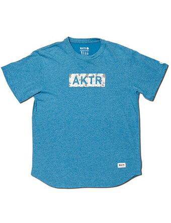 バスケットTシャツ ウェア アクター AKTR BLEEDING CAMO BOX LOGO TEE BLUE 【MEN'S】