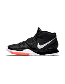 """バスケットシューズ バッシュ ナイキ Nike Kyrie 6 GS """"Jet Black"""" GS Blk/Wht 【GS】キッズ"""