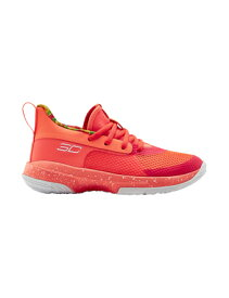"バスケットシューズ バッシュ アンダーアーマー UnderArmour Curry 7 Kids ""Soul Patch Kids"" PS Peach Plasma/White 【PS】"