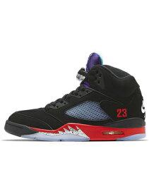 """バスケットシューズ バッシュ スニーカー ジョーダン Jordan Air Jordan 5 Retro """"Top3"""" Blk/Fire Red/Grape Ice/New Emerald ストリート"""