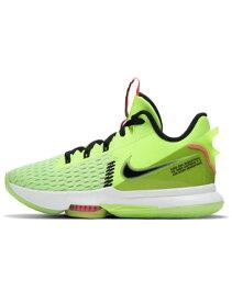 """バスケットシューズ バッシュ ナイキ Nike Lebron Witness V EP """"Grinch"""" Hot Lime/Blk/Bright Mango/Wht"""