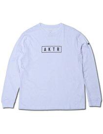 バスケットロング Tシャツ ウェア アクター AKTR AKTR LOGO L/S TEE WHITE ランニング トレーニング 【MEN'S】