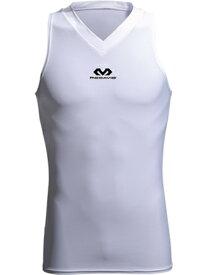 バスケットサポーター インナー トップ ボディ Vネック マクダビッド McDavid Body V-Neck Wht ランニング トレーニング