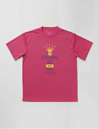 バスケットTシャツ ウェア クラウン ティーシャツ スポルディング Spalding Crown Tee Pink/Yel 【MEN'S】