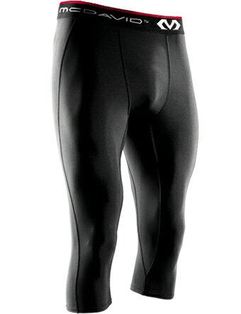 バスケットサポーター インナー 機能性タイツ マクダビッド McDavid 3/4 Length Tights Blk ランニング トレーニング