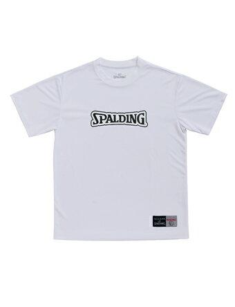 バスケットTシャツ ウェア ティーシャツ SD スポルディング Spalding T-Shirts-SD Wht/Blk 【MEN'S】