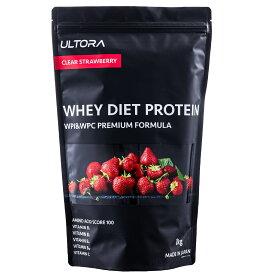 ULTORA(ウルトラ) ホエイダイエットプロテイン クリアストロベリー風味 1kg 国産