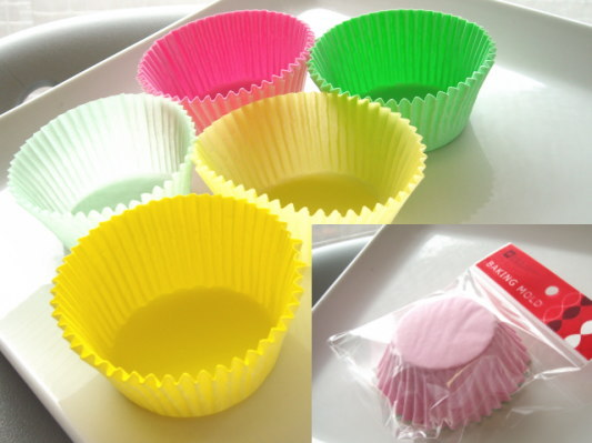 ベイクイージーカラーグラシンカップケーキ型(L) о製菓道具_お菓子作りアイテム_紙型