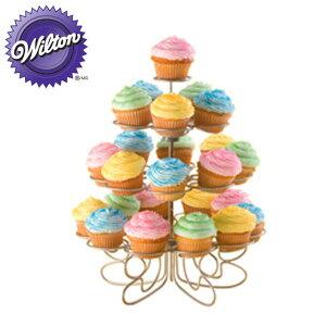 WILTON(ウィルトン)カップケーキモアスタンド ミニ Cupcakes N More 24 Count Mini Dessert Stand о製菓道具_お菓子作り_道具_WILTONのデコレーションツール_ wilton_ウィルトン_製菓用品_バレンタイン_ホワイ
