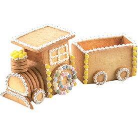 汽車ポッポ立体クッキー抜き型セット о製菓道具_お菓子作りアイテム_クッキー型_乗り物_組み立て_クッキー_汽車_クッキー型_クッキー_型抜き_バレンタイン_手作り'(メール便可)