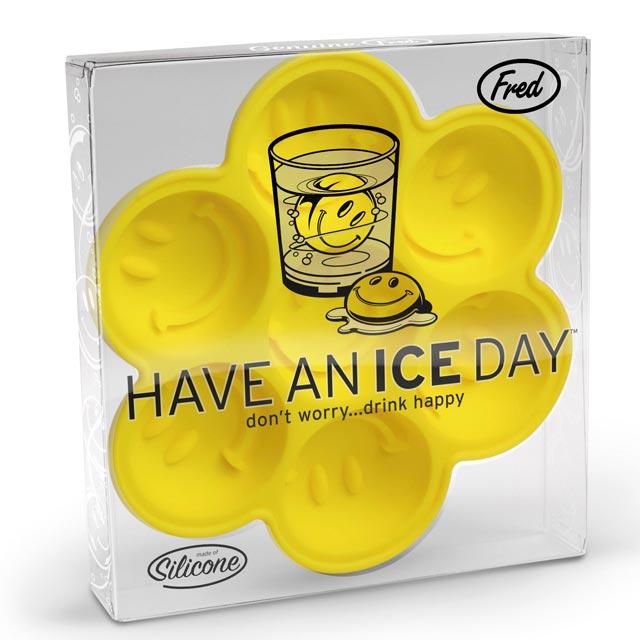 HAVE AN ICE DAY ハブアンアイスディ アイストレー(ニコニコ顔のキュートなシリコン型) о製菓道具_お菓子作りアイテム_チョコモールドにもOK