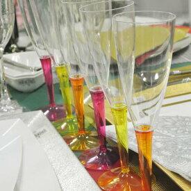 【Mozaik】モザイク シャンパングラス 6個セット (オレンジx2、ラズベリーx2、イエローx2)【ホームパーティー、イベントに!使い捨てとは思えない品質】【Mozaik】 モザイク グラス コップ おしゃれ シャンパングラス ケータリング】 οアウトドア【05P09Jul16】