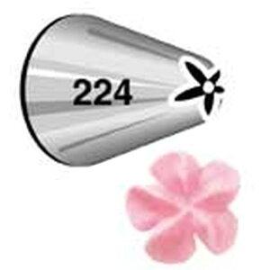 WILTON (ウィルトン) ドロップフラワーチップ #224 【口金 花】 оキッチン用品_食器_調理器具_調理_製菓道具_お菓子作り_道具_デコレーションツール_製菓用品_バレンタイン_ホワイトデー_クリ