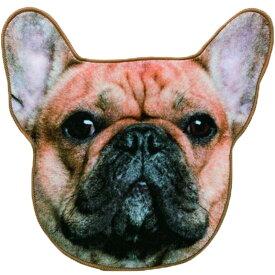 リアルモチーフタオル フレンチブルドッグ フォーン/タオル ハンカチ リアル 動物 ペット 犬 フレブル 今治 モチーフ おもしろ' メール便送料込