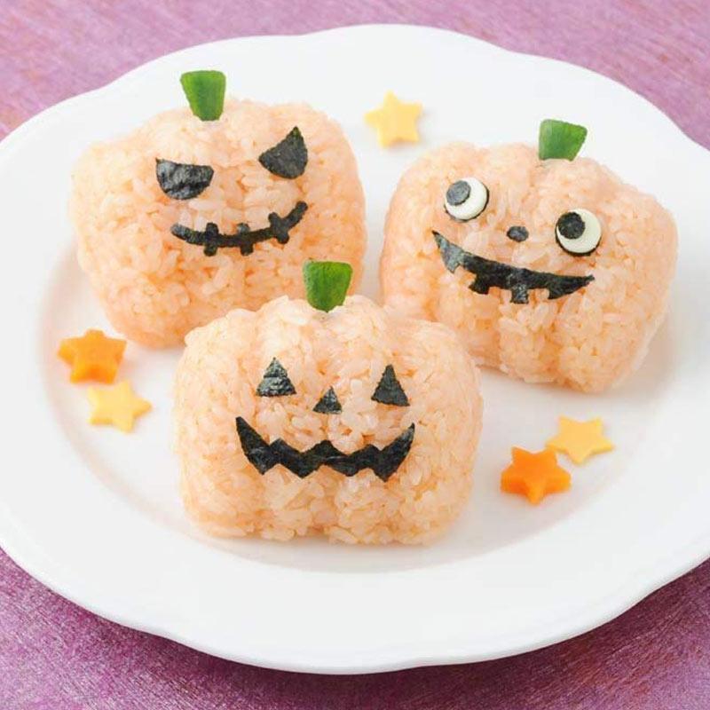 Rice Ball For Halloween! Onigiri Set / Rice Dies Halloween Event Party Easy  Kyaraben Deco Valve оf Kitchen Utensils __ Bento Accessories _ Ur Part 60