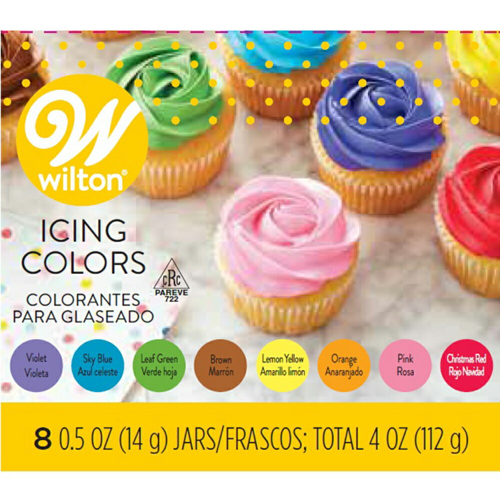 WILTON (ウィルトン)アイシングカラー・8カラーキット0.5oz Wilton Icing Colors【WILTON・ウィルトン・アントレクラフト】/製菓材料/ оスイーツ_お菓子材料_トッピング_ wilton_ウィルトン_製菓用品_ハロウィン クリスマス バレンタイン