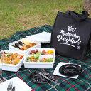 送料無料 デライトフル Delightful クーラーバッグ ブラック付き 3段 ピクニックランチボックス ホワイト 6280ml 4〜6…