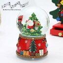 スノードーム オルゴール サンタA クリスマスツリー サンタとスノーマン  サンタクロース 北欧 クリスマス 飾り …