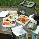 送料無料 デライトフル Delightful ミリタリーカーキ 保冷バッグ(コットン)付き ピクニック3段重箱 ランチボック…