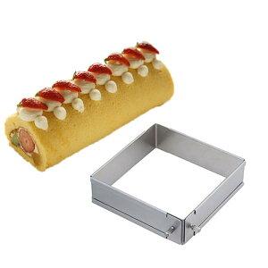 【120通りのサイズに伸縮可能!ロールケーキもデニッシュもこれ1型でOK!】SUNCRAFT パズルパン(大)(スライド式の伸縮自在焼き型)【オーブン・冷蔵庫・冷凍庫使用可能】 о製菓道具_お菓子作りア
