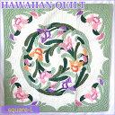 【送料無料】【Hawaiian Quilt】ハワイアンキルト タペストリーオーキッド・ホワイトリーフパープルピンク【ハワイアンキルト】【ハワ…