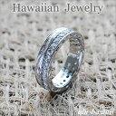 【Hawaiian Jewelry】【ハワイアンジュエリー】【シルバーリング】Silver Ringダブル・スクロール&ストーンring-1【指輪】【ハワイア…
