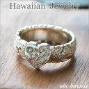 【Hawaiian Jewelry】ハワイアンジュエリー * 指輪 * シルバーリング(Hawaiian jewelry Silver Ring)ハートプルメリアスクロール・シル…