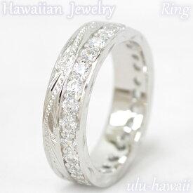 ハワイアンジュエリー リング シルバーリング 指輪Silver Ringダブル・スクロール&ストーンring-1ハワイアンジュエリーリング