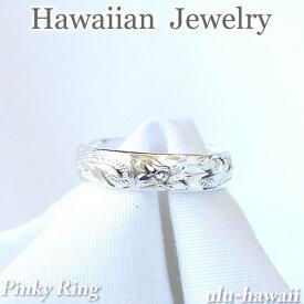 ハワイアンジュエリー リングシルバートゥリング ピンキーリング 指輪プルメリアスクロールring-67ハワイアンジュエリーリング