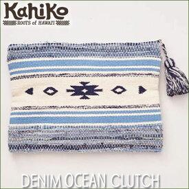 【Kahiko】デニムオーシャンクラッチバッグDENIM OCEAN CLUTCH BAG【Hawaii】【ハワイ 雑貨】【ハワイアン】ハワイアン雑貨【BAG SALE 1.31】