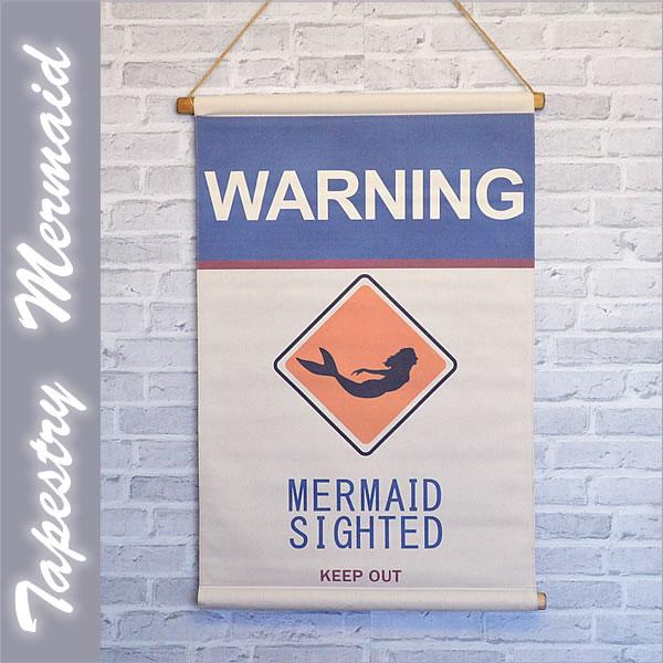 ハワイアン雑貨タペストリー「MERMAID」【インテリア】【Posh】【Hawaii】【ハワイ 雑貨】【ハワイアン】
