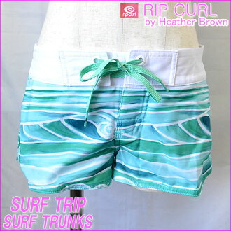 女子的衝浪褲衩(板短褲)SURF TRIP TRUNKS嘴唇卷曲經過zaburaundezain
