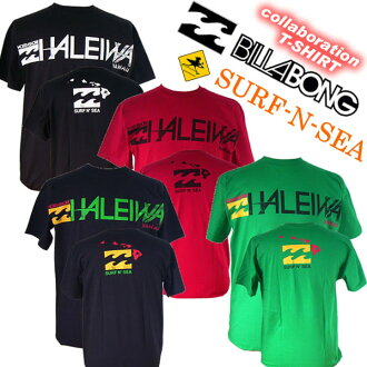 """And collabo """"Billabong & surf and sea' collaboration with men's TEE""""HALEIWA' M452PHSH"""